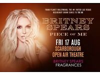 2 x Britney Spears Tickets Scarborough, Friday 17th August