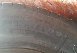 Michelin all season tires 185/70/R14