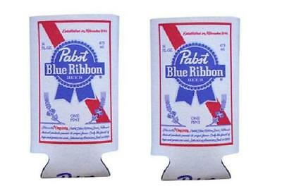 PABST BLUE RIBBON 2 PBR 16oz BEER CAN WRAP COOLERS KOOZIE COOLIE HUGIE NEW - $12.59