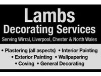 Lambs Decorating & Plastering services professional painter , plasterer Liverpool, Wirral, chester