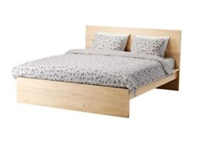 IKEA Full Size Bed Frame in Birch with Mattress