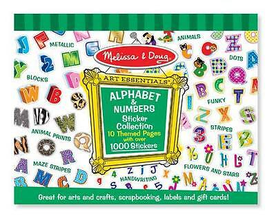 Melissa And Doug Sticker Pad - Alphabet & Numbers - 1000+ Stickers 4191