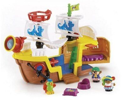 Fisher Price Little People Lil' Pirate Ship kid Treasure Boat Discontinued -Rare