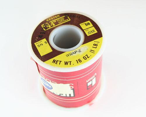 "Sn60Pb40 .062/"" #44-Rosin Flux Kester Solder 24-6040-0060 2/% Core 1-lb."