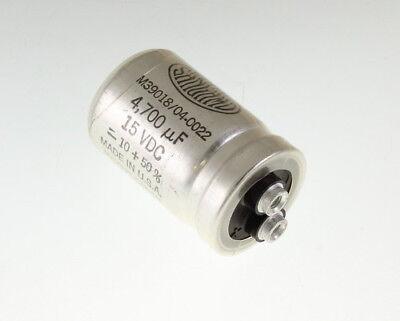 Sangamo 4700uf 15vdc Large Can Electrolytic Capacitor M3901804-0022