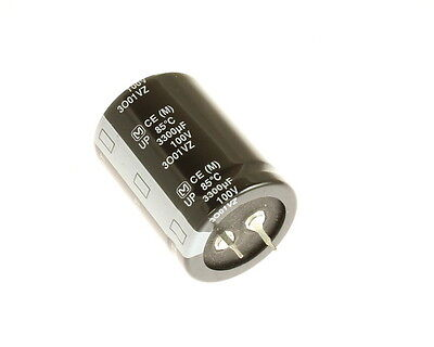 7x 3300uf 100v Snap In Mount Electrolytic Capacitor 3300mfd 100vdc 100 Volts
