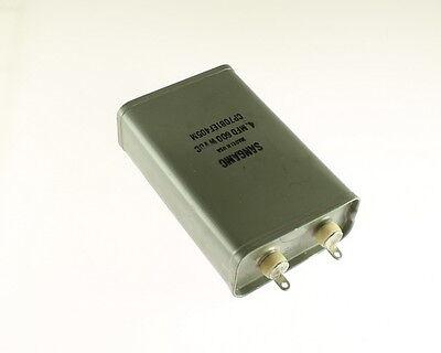 1x 4mfd 600vdc Hermetically Sealed Oil Capacitor 4uf 600v 600 Volts Dc