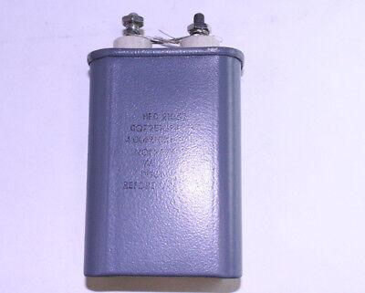 1x 4mfd 600vdc Hermetically Sealed Oil Capacitor 600 Volts 4uf 600v Dc