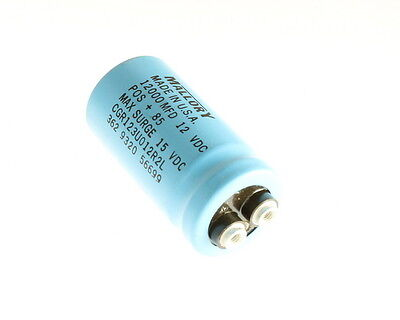 Mallory Cgr123u012r2l 12000uf 12v Large Can Electrolytic Capacitor