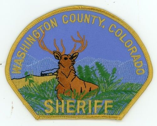 WASHINGTON COUNTY SHERIFF COLORADO CO COLORFUL STYLE #1 PATCH POLICE