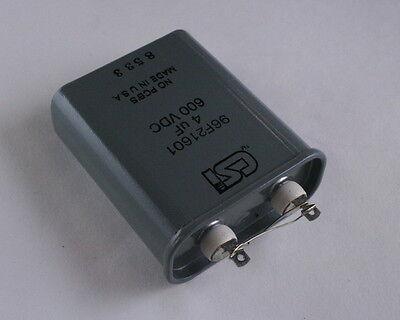 1x 4uf 600v High Voltage Oil Hermetically Sealed Capacitor 4 Mfd 600vdc Usa