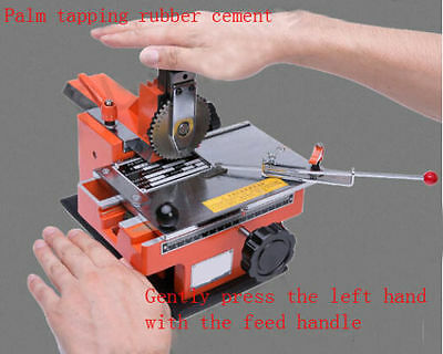 Semi-automatic Sheet Embosser Nameplate Marking Machine Metal Label Tag Stamping