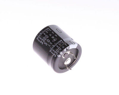 5x 3300uf 50v Snap In Mount Electrolytic Capacitor 3300mfd 50vdc 50 Volts 85c