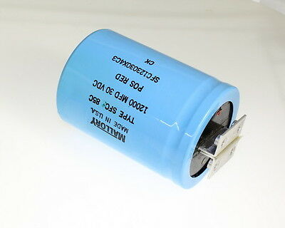 Mallory 12000uf 30v Large Can Electrolytic Capacitor Sfc123030x4c3
