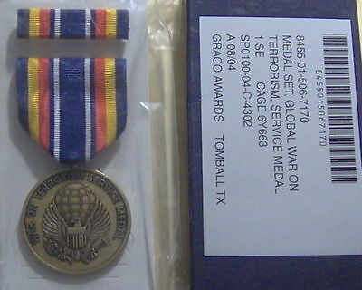 U.S. Global War on Terrorism Service Medal Set in GI Issue BOX