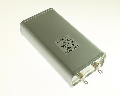 1x 4mfd 1000vdc Hermetically Sealed Oil Capacitor 4uf 1000v 1000 Volts Dc Cp70