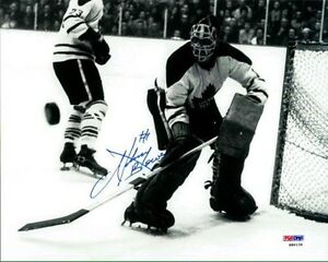 Johnny Bower Autographed 8x10 Toronto Maple Leafs Photo w/ COA!