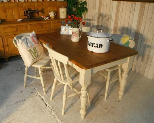 Pine Farmhouse Dining Chairs EBay