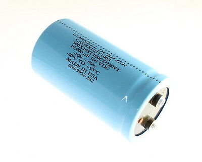 1x 10000uf 100v Large Can Electrolytic Capacitor Dc Mfd 100vdc 10000mfd 10000