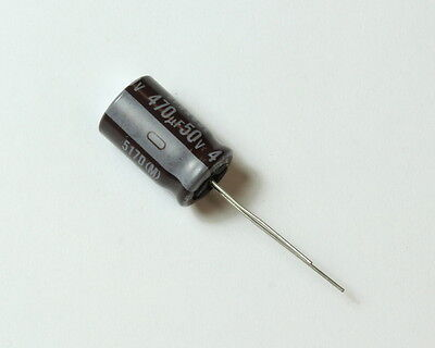 Lot 130x Sprague 470u 50v Aluminum Radial Electrolytic Capacitor 517d477m050dga
