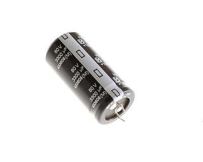 5x 3300uf 80v Radial Snap In Mount Electrolytic Capacitor 3300mfd 80vdc Dc 105c