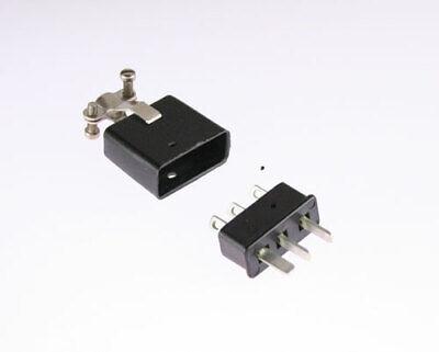 2 Pcs Beau Cinch P303cct Jones 3 Pin Plug 38331-5603 Connector Cable Clamp Top