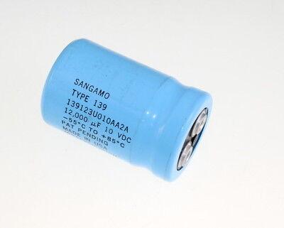 Sangamo 12000uf 10v Large Can Electrolytic Capacitor 139123u010aa2a