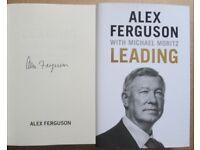 Signed Sir Alex Ferguson Book Brand New