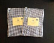Pottery Barn Kids Blue Gingham