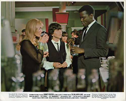 TO SIR WITH LOVE ORIGINAL LOBBY CARD SIDNEY POITIER SUZY KENDALL