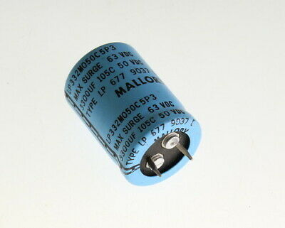 10x 3300uf 50v Dc Radial Snap In Mount Electrolytic Capacitor 50vdc 3300mfd