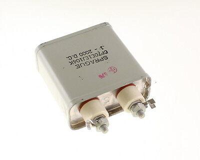 1x .1mfd 2000vdc Hermetically Sealed Oil Capacitor .1uf 2000v Dc 2000 Volts