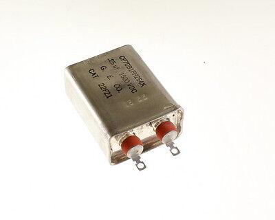 1x .25mfd 1500vdc Hermetically Sealed Oil Capacitor .25uf 1500v Dc 1500 Volts