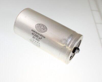 Sangamo 47000uf 20 Vdc Large Can Electrolytic Capacitor M3901804-2080m