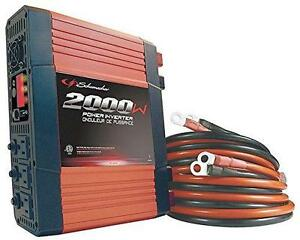 Schumacher 2000w Power Inverter W/ Gfi Outlets And 5v Usb Port