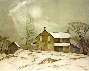 """A.J. Casson """"Farmhouse March Day"""" Lithograph appraised at $1000"""