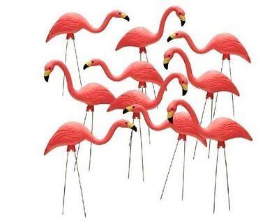 """10 Pack 27"""" Pink Flamingos Plastic Yard ..."""