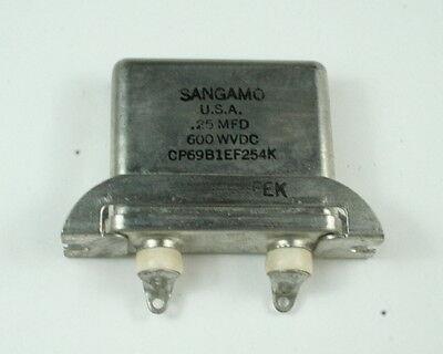 Sangamo 0.25uf 600wvdc Motor Run Capacitor Cp69b1ef254k