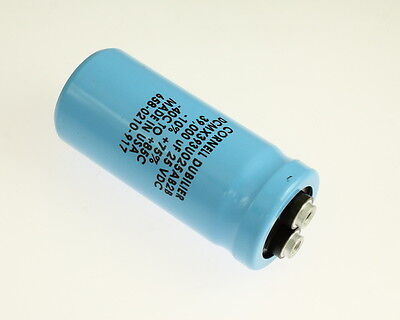 1x 42000uF 90V Large Can Electrolytic Capacitor 42000mfd 90 Volts DC 42,000 uF