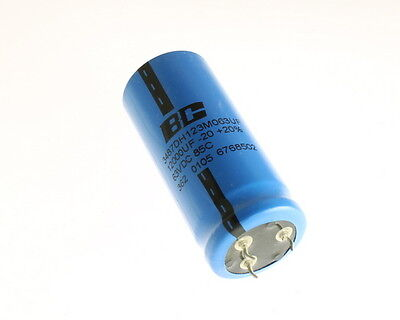 Bc Comps 12000uf 63v Aluminum Electrolytic Snap In Capacitor 3486dh123m063uf