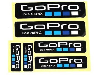 NEW 6 Piece Lot Gopro Hero 4 3+ STICKERS Go Pro Accessories...