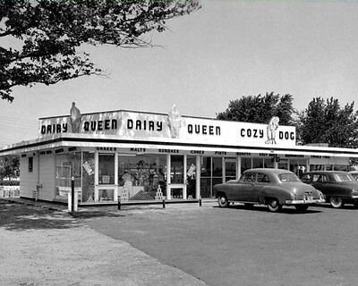 1950S Dairy Queen Photo 8X10   Ice Cream Diner Restaurant  Buy Any 2 Get 1 Free