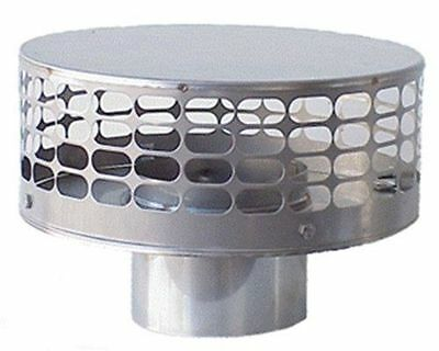 New stamp 8 Inch round Stainless Steel Liner Top Chimney Cap ()