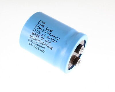 Cde 12000uf 40v Large Can Electrolytic Capacitor Dcm123u040bh2b