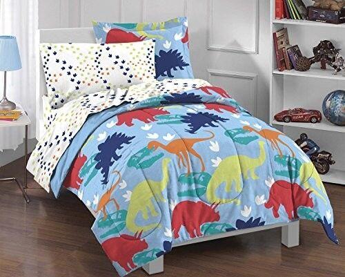 boys twin comforter set prehistoric dinosaur complete