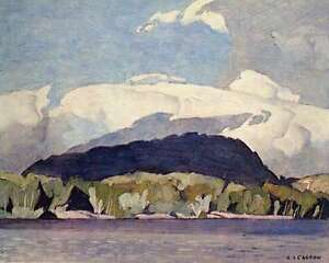 """A.J. Casson """"Negeek Lake"""" Lithograph - Appraised at $575"""