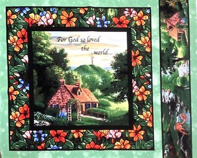For God So Loved The World John 3:16 Cotton Fabric Pillow -