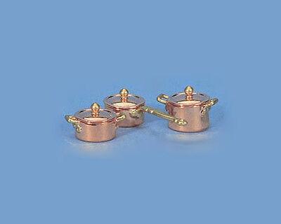 Best Quality Dollhouse Miniature 1:12 Scale Copper & Brass Pots & Pans