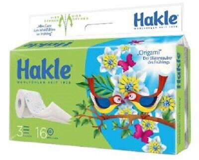"Hakle Toilettenpapier ""Frühling"" 3-lagig, 1er Pack (1 x 16 Stück)"