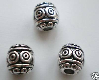 30 x Tibetan Silver Barrel Shape Lead Free Beads